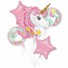 Magical Unicorn Fairytale Birthday Party Tableware Decorations Balloons Supplies