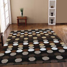 NEW BEST QUALITY HARLEQUIN MODERN THICK DOTTY BROWN DESIGNER CLEARANCE RUGS