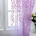 leaf design curtains - Leaves Design Sheer Room Curtain Decal Pattern Voile Panel Drape Window Curtain