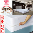 Mattress Cover Zippered Bed Bug Protector Box Spring Encasement Mites Queen King image