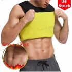 Hot Thermal Cami Slimming Sauna Belt Tummy Control Shaper Loss Weight Men's Vest