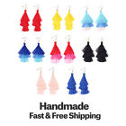 Tassel Earrings Colorful Tiered Thread Layered Statement Drop Dangle Earrings