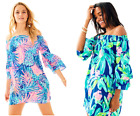 LILLY PULITZER TOBYN OFF THE SHOULDER TUNIC DRESS Island Exotic/Gypset Paradise