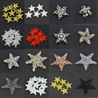Star Patches Sew on Iron on Clothes Badge Bag Applique DIY  Crafts Multi-colour $2.75 USD