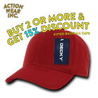DECKY 402 MEN'S BASEBALL HAT FITTED HATS CLASSIC CAP CURVED BILL CAPS 9 COLORS