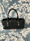 Michal Kors Handbag Doctors Purse Black Pebbled Leather Baugette CUTE