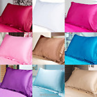 Solid Color Queen/Standard Satin Pillow Case Bedding Pillowcase Smooth Home Bed