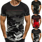 Men's Slim Fit O Neck Short Sleeve Muscle Tee Shirts Casual T-shirt Tops 3 Color