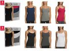 NEW Felina Ladies' Cotton Stretch 3-pack Camisole white gray black SIZE VARIETY