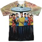 Authentic Star Trek Original Crew Cast Photo NCC-1701 Allover Front T-shirt top on eBay