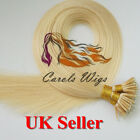 "16"" 1g Nano Ring Lightest Blonde Russian Virgin Double Drawn HumanHairExtensions"