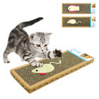 Cat Kitten Scratch Pad Toys Play Corrugated Safety Card Board Scratcher Bed