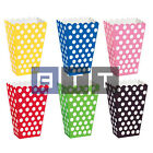 8 Popcorn Treat Polka Dots Spot Style Boxes Favour Party Birthday Paper Loot Bag