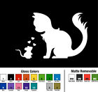 Cat and Mouse Decal Window Bumper Sticker Car Kitty Cats Feline Love Pets Mice
