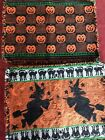 "Lot of 6  Placemats , 4 Halloween Witches,1 pumpkin, 1 tukey 13 x 17 1/2"" Woven"