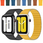Genuine Magnetic Leather Loop Strap Watch Band for Apple Watch Series 4/3/2/1 image