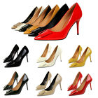 high heels stilettos - Patent Leather Shallow Stiletto High Heels Pointed Toe Women Sexy OL Pumps Shoes