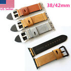 38/42mm Genuine Leather Watch Band Wrist Strap For Apple Watch iWatch Series 1 2