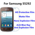 s5292 samsung - 3pcs For Samsung S5292 Anti Scratch Matte,High Clear Screen Protector