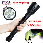 Tactical 80000LM LED Flashlight 5-Modes 5x T6 Super Bright Light Lamp Torch Hot1