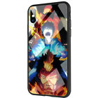 Bleach Blue Exorcist Mazinger Z Tempered Glass TPU Case for iPhone X 8 7 6S Plus