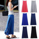 Women Lady Spring Summer A-line Dress Modal Long Casual Pleated Skirts Plus Size