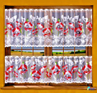 """Kitchen Curtain Cafe Net Curtain Lace White Drop Sold by the metre 27""""  Poppies"""