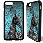 Peacock animal tribal vtg pattern cover case for iphone 5 6 6S 7 8 plus X