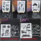 Sunflower Cutting Dies Clear Rubber Stamps DIY Scrapbooking Card Stencil Craft