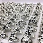 Wholesale Bulk Lots Mens Womens Silver Gold Punk Gothic Biker Style Skull Rings