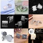 2X Classic Simple Men Wedding Party Gift Shirt Square Cufflinks Cuff Link LOT VL