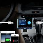 Digital Bluetooth Car Kit Handsfree FM Transmitter Dual USB Car Charger NEWfk