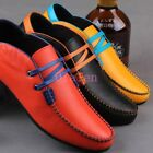 Spring Pumps Mens Lace Up Commino Round Toe Flats Driving Moccasins Shoes Candy