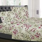 Dolce Sage/Purple Floral Pattern 4-Piece 1800 Thread Count Sheet Set image