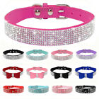 Bling Rhinestone Small Dog Collars for Chihuahua Yorkshire Poodle XXS XS S