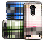 high end cell phone cases - Fits ZTE ZMax Pro, ZMax Z981 Case Slim High-End Plaid Protector Hybrid Cover