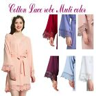 Cotton Bridesmaid Lace Robes With Trim Women Wedding Bridal Robe Short robes
