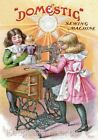 Girls & Doll Domestic Sewing Quilt Block Multi Sizes FrEE ShiP WoRld WiDE TC6