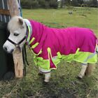 LOVE MY HORSE 3'6 - 4'9 600D Mini Pony Rainsheet Waterproof Combo Rasb / Lime