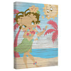 BETTY BOOP HULA BOOP LICENSED CANVAS WALL ART $56.62 USD