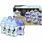 6 x Tommee Tippee Decorated Baby Bottles Closer Nature 260ml/9oz. Catch me Quick