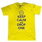 Keep Calm and Drop One, Mens T Shirt, Old Skool Rave DJ Festival