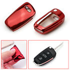 Sport Red TPU Smart Key Fob Case For Audi A1 A3 A4 S3 TT R8 Q3 Q5 Flip Key