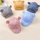 Dot Baby Caps New Girl Boys Cap Summer Hats For Boy Infant Sun Hat With Ear FA