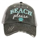 Katydid Gray and Mint Beach Please Trucker Hat KDC-TC-146