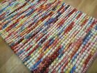 Handwoven Boucle Dip Weave Multi Felted Wool & Polyester Majestic Area Floor Rug