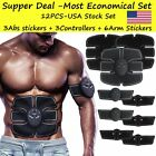 12pcs Abs Stimulator Training Fitness Gear Muscle Abdominal Toning Belt Trainer  image