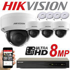 HIKVISION 8MP SYSTEM 4CH CHANNEL NVR IP POE CCTV DOME CAMERA NETWORK KIT TRADE