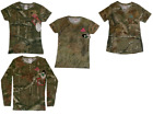 Women's Small Camo T-shirts Short and Long Sleeve (Mossy Oak)
