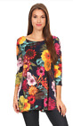 Women's Long Body, Loose Fit Top with 3/4 Sleeves. Made in U